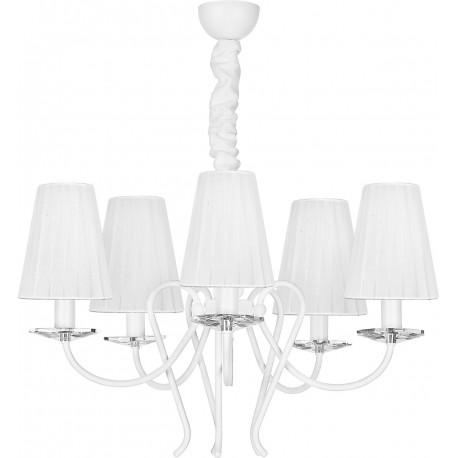 Lampa Wisząca Abażur Żyrandol Tropea White V Zwis 5204 Nowodvorski
