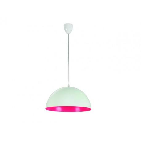 Lampa Wisząca Hemisphere White-Pink Fluo S 5717 Nowodvorski