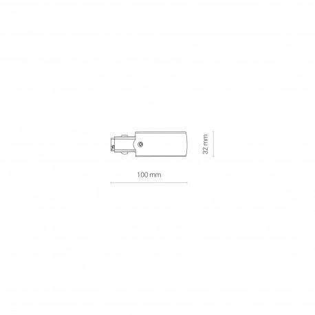 CTLS Power END CAP Right PE-R 8713 Nowodvorski Lighting